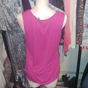 Banana Republic Tops - EUC· banana Republic magenta v neck tank